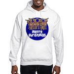 Merry Christmas Raindeer Hooded Sweatshirt