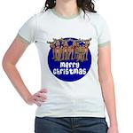 Merry Christmas Raindeer Jr. Ringer T-Shirt
