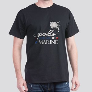 I Sparkle for my Marine Dark T-Shirt