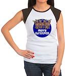 Merry Christmas Raindeer Women's Cap Sleeve T-Shir