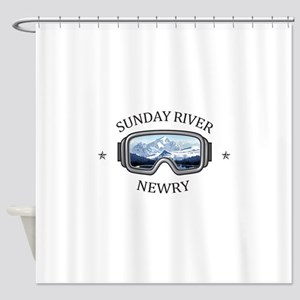 Sunday River - Newry - Maine Shower Curtain