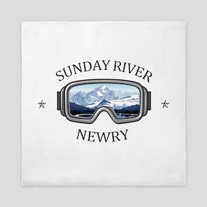 Sunday River - Newry - Maine Queen Duvet