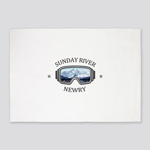 Sunday River - Newry - Maine 5'x7'Area Rug