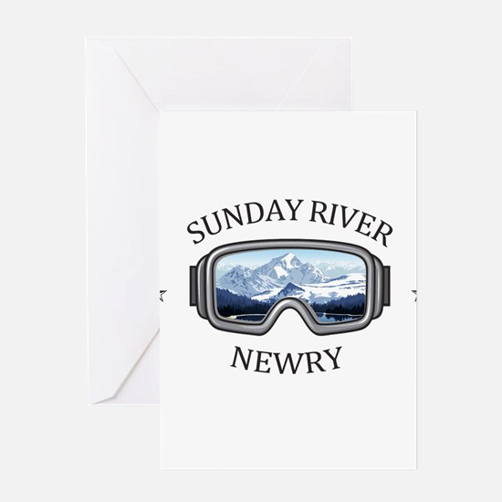 Sunday River - Newry - Maine Greeting Cards
