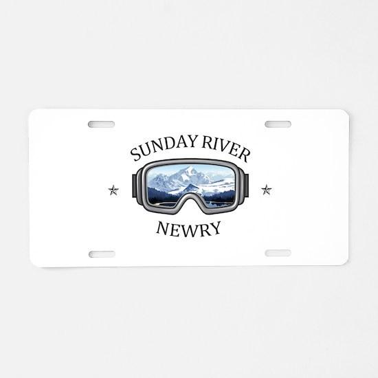Sunday River - Newry - Ma Aluminum License Plate