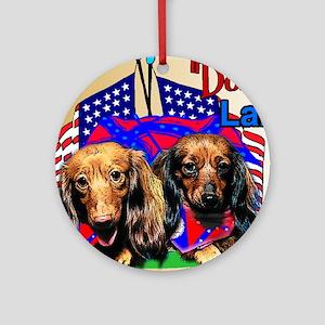 "Dachshund Gifts_""Doxie"" Land Ornament (Round)"