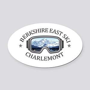 Berkshire East Ski Resort - Char Oval Car Magnet