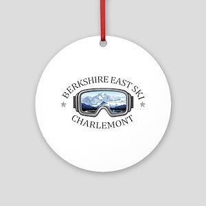 Berkshire East Ski Resort - Charl Round Ornament