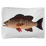 Gray Mangrove Snapper v2 Pillow Sham