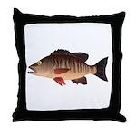 Gray Mangrove Snapper v2 Throw Pillow