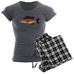 Gray Mangrove Snapper v2 Women's Charcoal Pajamas