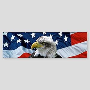 Bald Eagle American Flag Bumper Sticker