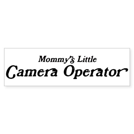 Mommys Little Camera Operator Bumper Sticker