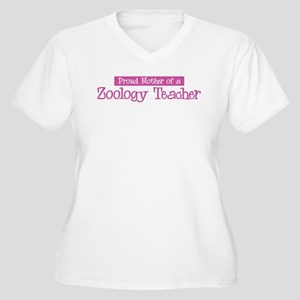Proud Mother of Zoology Teach Women's Plus Size V-