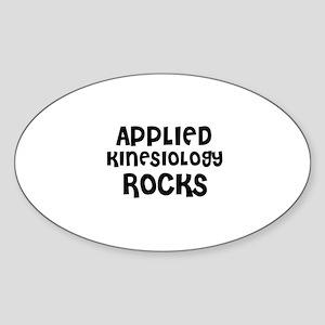 APPLIED KINESIOLOGY ROCKS Oval Sticker