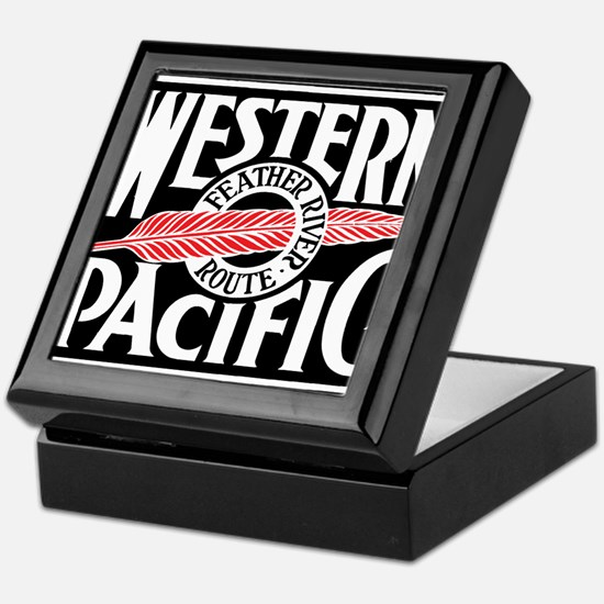 Feather River Route train logo Keepsake Box
