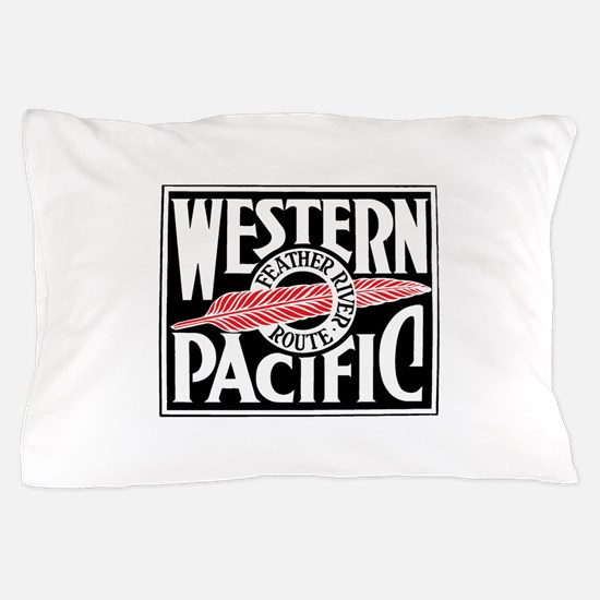 Feather River Route train logo Pillow Case