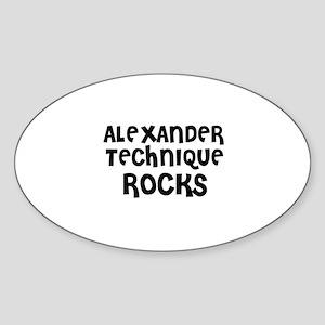 ALEXANDER TECHNIQUE ROCKS Oval Sticker