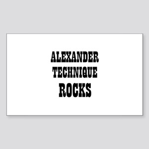 ALEXANDER TECHNIQUE ROCKS Rectangle Sticker