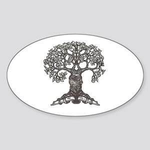 The Reading Tree Oval Sticker