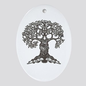 The Reading Tree Oval Ornament