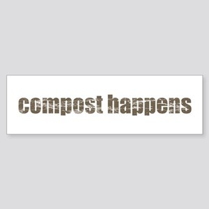 Compost Happens Sticker (Bumper)