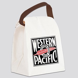Feather River Route train logo Canvas Lunch Bag