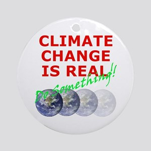 Global Warming Climate Change Ornament (Round)