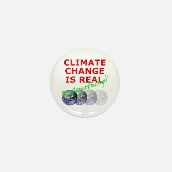 Global Warming Climate Change Mini Button