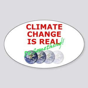 Global Warming Climate Change Oval Sticker