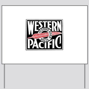 Feather River Route train logo Yard Sign