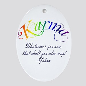 Karma Oval Ornament