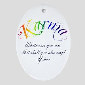 Karma Oval Ornament