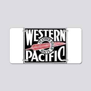 Feather River Route train l Aluminum License Plate
