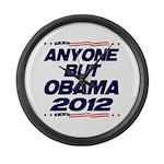Anyone But Obama Large Wall Clock