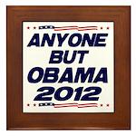 Anyone But Obama Framed Tile