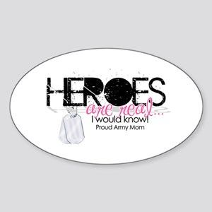 Heroes Oval Sticker