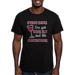 Wine Flu Men's Fitted T-Shirt (dark)