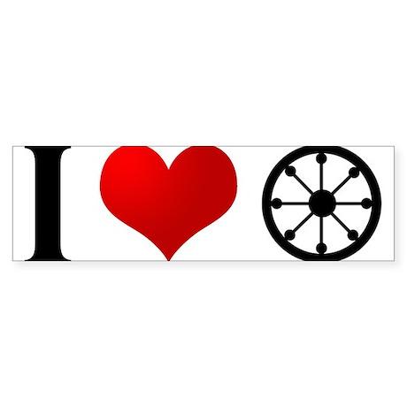 I Heart Buddhism Bumper Sticker