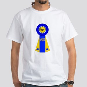 Labrador Premium Ribbon White T-Shirt