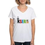 KSER Women's V-Neck T-Shirt