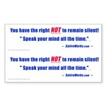 Right NOT to remain silent! 3x5 Dbl. Sticker