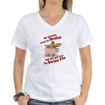 Mexico :: Swine Flu Women's V-Neck T-Shirt