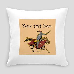 Customizable Knight on Horse Everyday Pillow