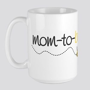 mom to be t shirt Large Mug