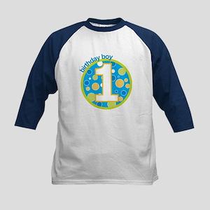 first birthday boy t-shirts Kids Baseball Jersey