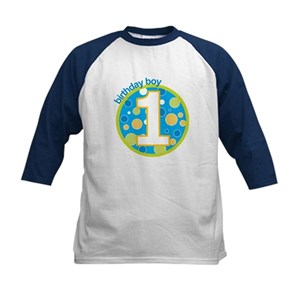 First Birthday Boy T Shirts Kids Baseball Jersey