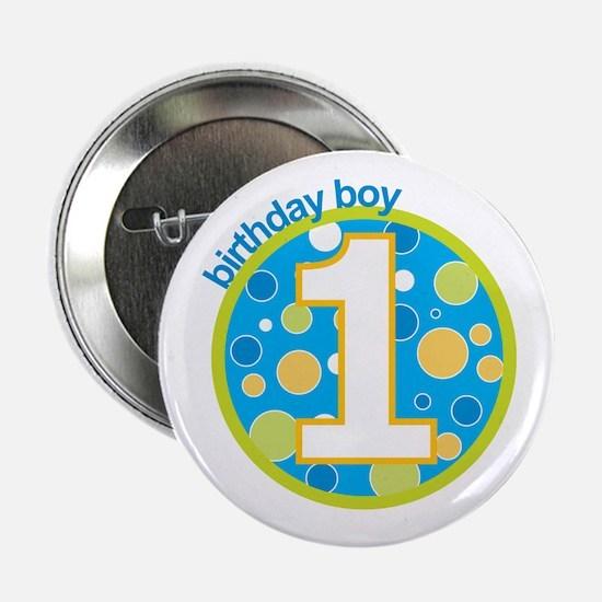 "first birthday boy t-shirts 2.25"" Button"