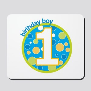first birthday boy t-shirts Mousepad