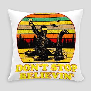 VINTAGE UFO BIGFOOT LOCH NESS Everyday Pillow